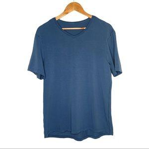 Lululemon Men's Blue V-Neck T-Shirt